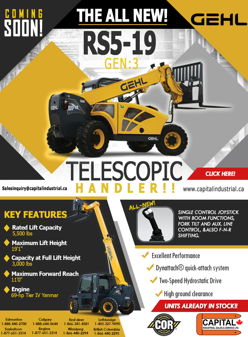 The All New RS5-19 Telescopic Handler!
