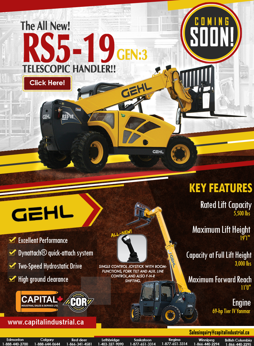 All New RS-519 Telescopic Handler!