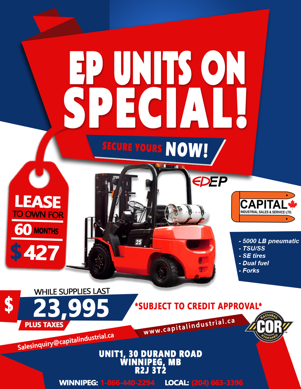 EP Units On Special!!