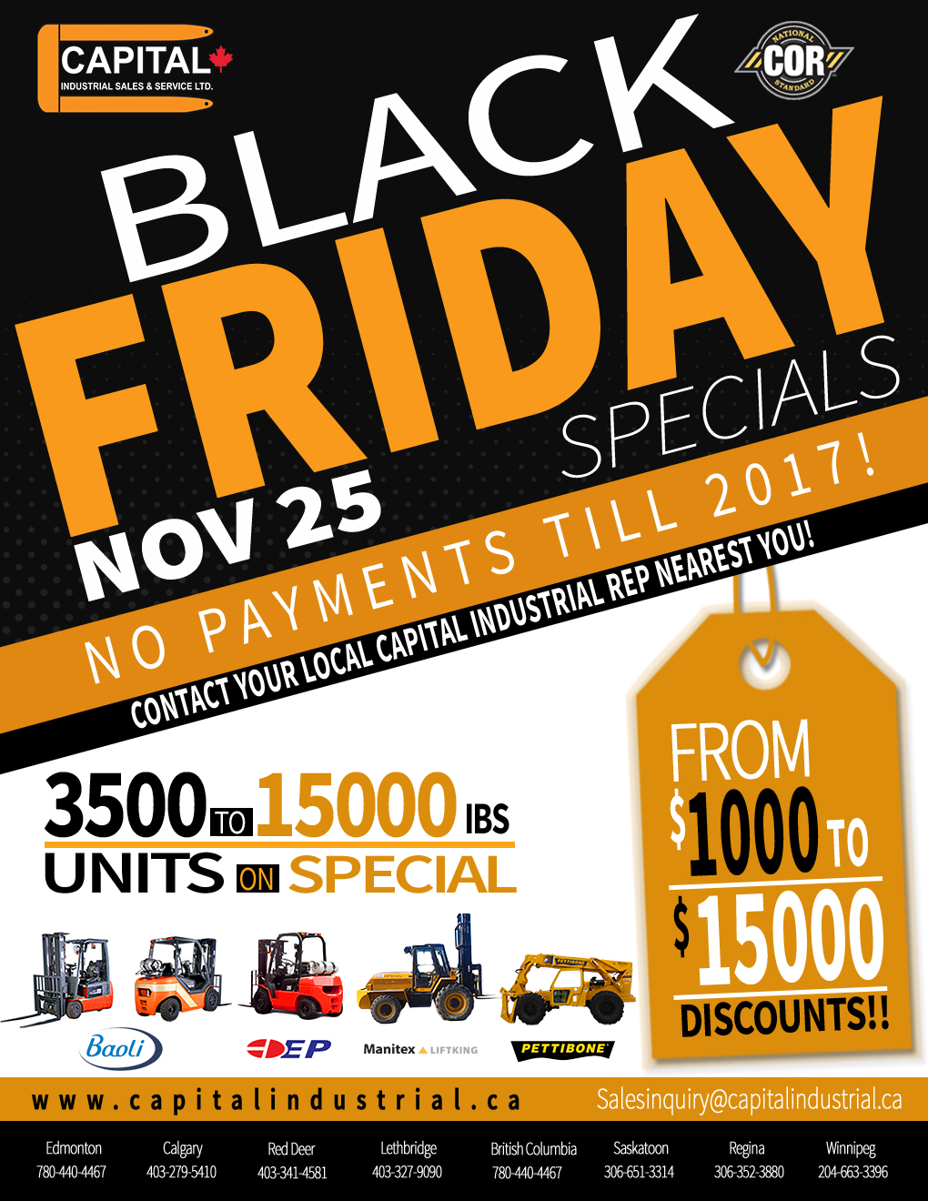 Black Friday is Here!! Save Thousands On Our Units!!