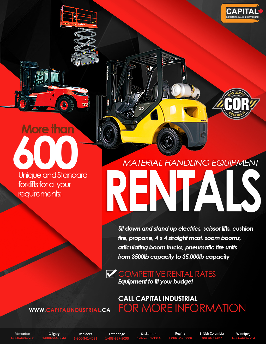 Competitive Rental Rates