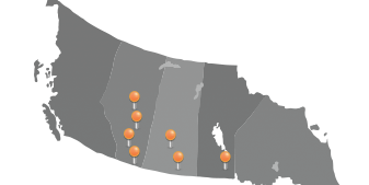 Capital Industrial branches on a map